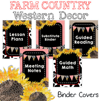 Farm Country Western Binder Covers and Spines {Editable}