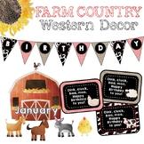Farm Country Western Birthday Chart