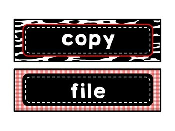 Farm Country Western Drawer Labels {Editable}