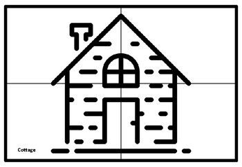 Farm, Countryside Collaborative Art Project Coloring Pages and Vocabulary Bundle