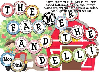 Farm, Cowboy, Rodeo Themed Editable Bulletin Board Banner