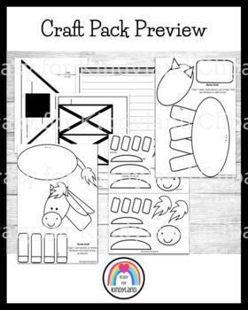 Farm Crafts Value Pack: Barn Writing, Cow, Horse, Pig, Chicken
