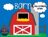 Farm Cut and Paste Craft Template - Barn