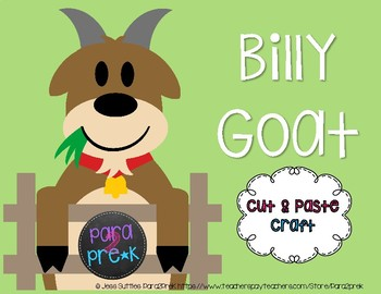 Farm Cut and Paste Craft Template - Billy Goat