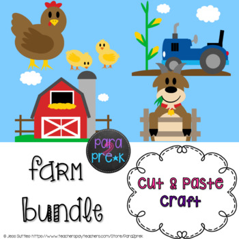 Farm Cut and Paste Craft Template Bundle - All 9 projects included!