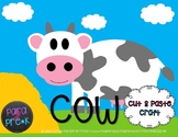 Farm Cut and Paste Craft Template - Cow