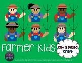 Farm Cut and Paste Craft Template - Farmer Kids