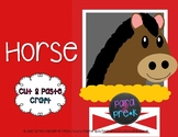 Farm Cut and Paste Craft Template - Horse