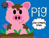 Farm Cut and Paste Craft Template - Pig