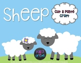 Farm Cut and Paste Craft Template - Sheep