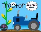 Farm Cut and Paste Craft Template - Tractor