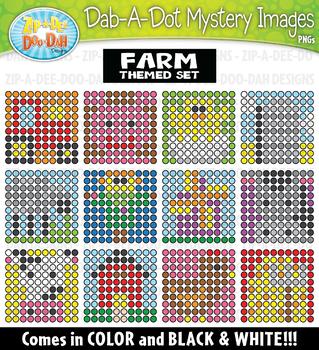 Farm Dab-A-Dot Mystery Images Clipart {Zip-A-Dee-Doo-Dah Designs}