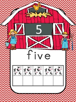 Farm Day Number Posters (0 to 20) with Ten Frames