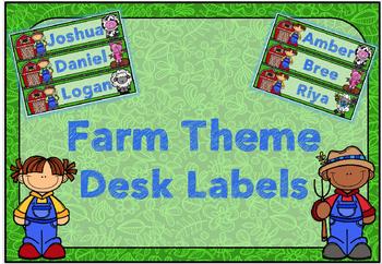 Farm Desk Labels