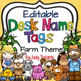 Farm Desk Name Tags...Editable