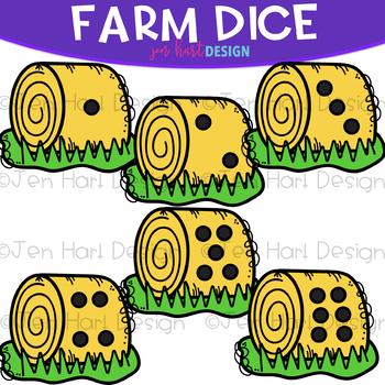 Farm Dice Clip Art: Hay Dice 1-6 {jen hart Clip Art}