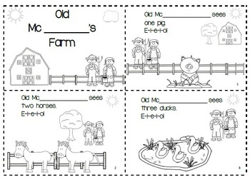 Farm Differentiated Math Activities
