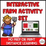 Farm Digital Activity Set: No Print Distance Learning Spec
