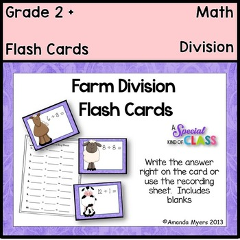 Farm Division Flash Cards