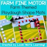 Farm Theme Activities - Farm Fine Motor! Dot Shape Mats