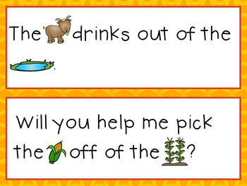 Sight Word Sentence Strips: Farm Set