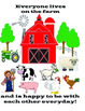 "Farm Dot Art and Interactive Farm Book (""wh""questions, adapted book)"