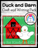 Duck Craft and Barn Writing (Farm Animal Research, Spring, Autumn)
