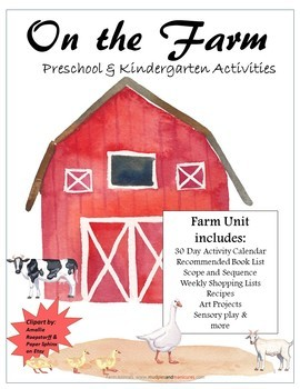 Farm Unit: Kids Activities for Integrated ELA & Math