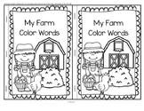 Farm Color Words Emergent Reader