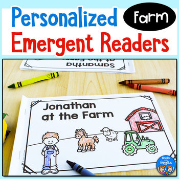 Farm Emergent Readers - Personalized Name Books