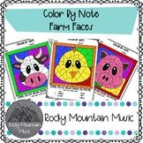 Farm Faces Color by Note