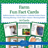Farm Unit Activity - Fun Fact Cards for Games, Bulletin Board