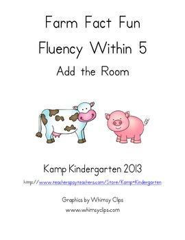 Farm Fact Fun Fluency Within 5 Add the Room