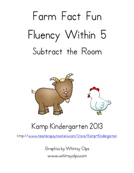 Farm Fact Fun Fluency within 5 Subtract the Room