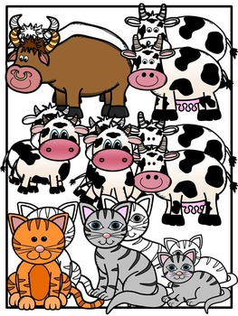 Farm clipart-Farm Mommies and Babies Clipart