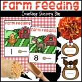 Farm Feeding Counting Cards for Sensory Bin