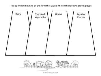 Farm Field Trip Booklet Workbook - Use On or After the Field Trip