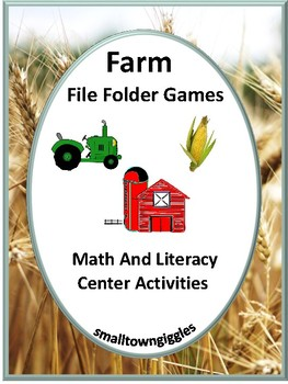 Farm File Folder Activities Literacy Center Math Center P-K, K Special Education