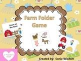 Farm File Folder Activity---preschool