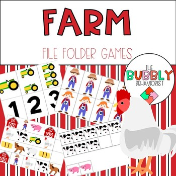 Farm File Folder Games
