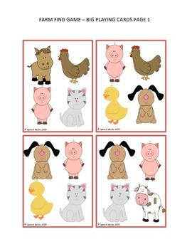 Farm Find Game (Verbal Expression, Visual Discrim, Attention/Focus, Matching)