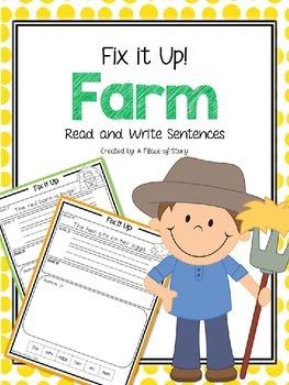 Farm: Fix it Up! Read and Write Sentences