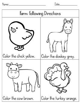 Farm: Following Directions