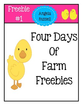 Farm Freebie #1 - Picture Word Cards