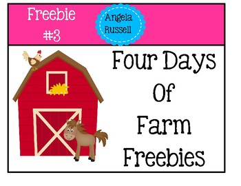 Farm Freebie #3 ~ Preposition And Counting Test For Young Children