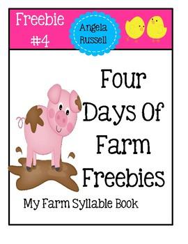 Farm Freebie #4 - My Farm Syllable Book