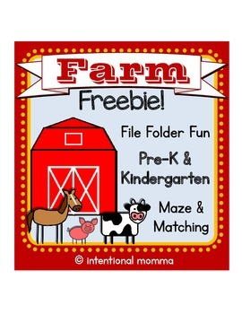 Farm Freebie for Pre-K and Kindergarten