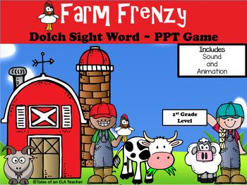 Farm Frenzy ~ 1st Grade Dolch Sight Word ~ Interactive PPT Game