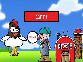 Farm Frenzy ~ Kindergarten Dolch Sight Word ~ Interactive PPT Game