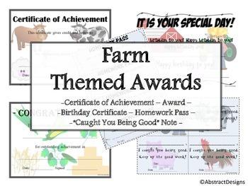 Farm Fresh Awards Set